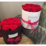 Flowerbox rond zwart Ø 10 cm – Rood