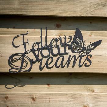 Muurdecoraties Voor Buiten.Follow Your Dreams Muurdecoratie Vlinder Kopen Wanddecoratie Met