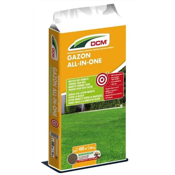 Gazon all-in-one meststof DCM - 20 kg