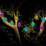 Guirlande 10 globes - gecrackeleerd glas