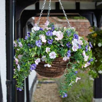 Aanbieding hangmand met bloemen - hanging basket kopen ...