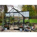 Hobbykas Gardenroom 129 zwart - 389 x 391 x 276 cm - 12,9 m²