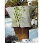 Plantenhoes met bamboeprint 120 x 180 cm