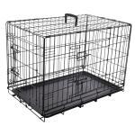 Bench voor honden - zwart medium