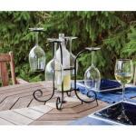 Houder voor wijnfles en glazen