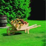Plantenbak - houten kruiwagen