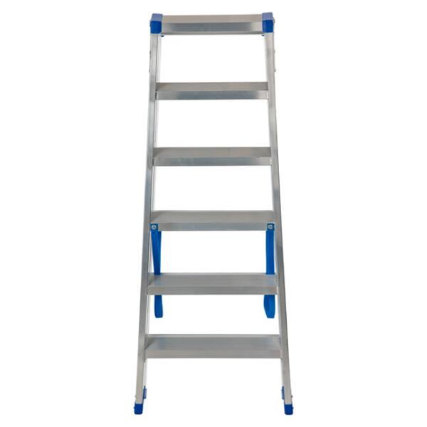 Dubbele trapladder Sparta DUO 6STEP