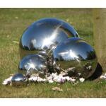 Inox bollen  (4 stuks)