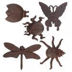 Wanddecoratie insecten in gietijzer