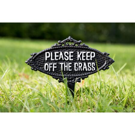 Keep off the grass - tuinprikker