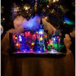 Kerst miniatuurdorp met verlichting