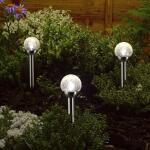 Lichtbol met grondpin - op zonne-energie - 6 x 35 cm