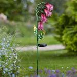Bloemklokjes - lichtgevend op zonne-energie - tuinprikker