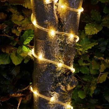 Lichtsnoer voor buiten - slinger op zonne-energie voor de tuin ...