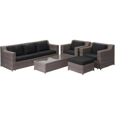 Loungeset cosy BROWN - 3 seater