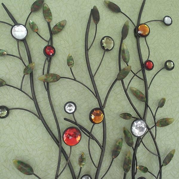 Muurdecoratie boom met parels kopen decoratie voor aan for Decoratie vlinders voor in de tuin