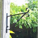 Muurhaak zwart voor hangmanden 25 cm