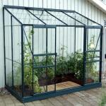 Muurkas Ida + GRATIS fundering - aluminium groen 3,3 m²