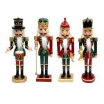 Notenkraker kerstfiguur - H25 cm (4 stuks)