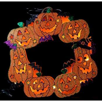 Halloween Pompoen Kopen.Halloween Pompoen Krans 10 Led