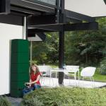 Regenton Slim muurmodel 300 L -  groen