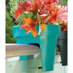 Reling bloempot turquoise Lofly 5 liter