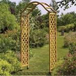 Elegante houten rozenboog - bruin 114 x 40 x 218 cm