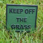 Gazonplaat - Keep off the grass