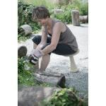 Ergonomische tuinkruk - grijs/zand