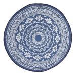 Tuintapijt blauw/wit - Ø 150 cm