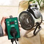 Serre/Kasverwarming en ventilator in 1 met digitale thermostaat