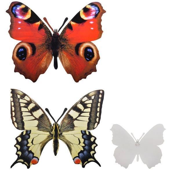 muurdecoratie vlinders levensechte vlinders aan de muur