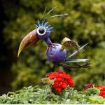 Vogel Flighty op pin - metaal
