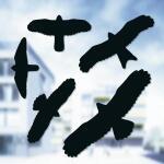 Vogelafweer stickers zwart (5 stuks)