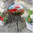 Vogelbad Red Poppy - ? 35 cm glas
