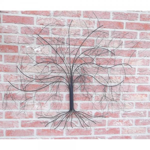 wanddecoratie boomsilhouet metalen muurdecoratie
