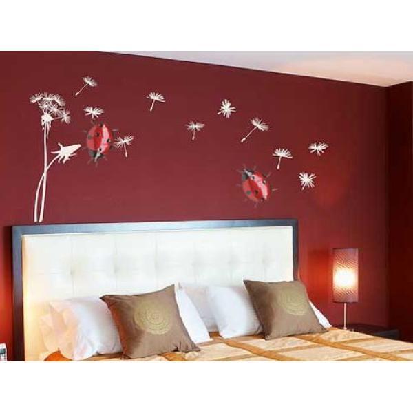wanddecoratie lieveheersbeestje kopen metalen