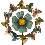 Windwijzer vlinder en bloem